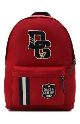 Детская рюкзак DOLCE & GABBANA красного цвета, арт. EM0074/AU927   Фото 1 (Материал: Текстиль)