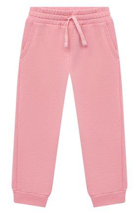 Детские хлопковые джоггеры DOLCE & GABBANA розового цвета, арт. L5JP7T/G7BDM/2-6 | Фото 1 (Материал внешний: Хлопок; Девочки Кросс-КТ: Брюки-одежда; Ростовка одежда: 2 года | 92 см, 3 года | 98 см, 4 года | 104 см, 5 лет | 110 см, 6 лет | 116 см)
