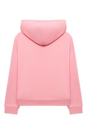 Детский хлопковая толстовка DOLCE & GABBANA розового цвета, арт. L5JW4U/G7BDM/2-6   Фото 2 (Рукава: Длинные; Материал внешний: Хлопок; Девочки Кросс-КТ: Толстовка-одежда; Ростовка одежда: 2 года   92 см, 3 года   98 см, 4 года   104 см, 5 лет   110 см, 6 лет   116 см)