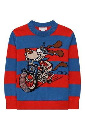 Детский хлопковый пуловер STELLA MCCARTNEY разноцветного цвета, арт. 603590/SRM06 | Фото 1