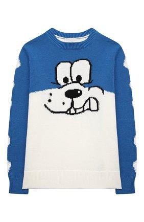 Детский хлопковый пуловер STELLA MCCARTNEY синего цвета, арт. 603427/SRM18 | Фото 1