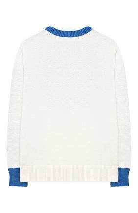 Детский хлопковый пуловер STELLA MCCARTNEY синего цвета, арт. 603427/SRM18 | Фото 2