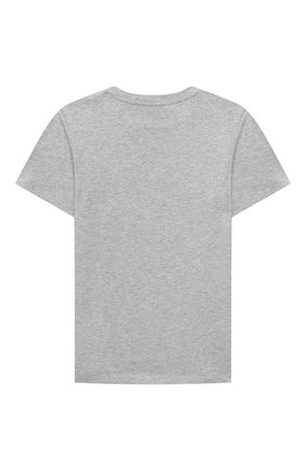Детская хлопковая футболка STELLA MCCARTNEY серого цвета, арт. 603419/SRJE4 | Фото 2