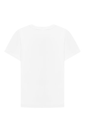 Детская хлопковая футболка STELLA MCCARTNEY белого цвета, арт. 603419/SRJA1 | Фото 2