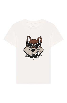 Детская хлопковая футболка STELLA MCCARTNEY белого цвета, арт. 603419/SRJ96 | Фото 1