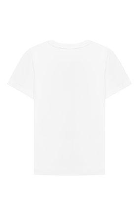Детский хлопковая футболка STELLA MCCARTNEY белого цвета, арт. 603085/SRJA1 | Фото 2
