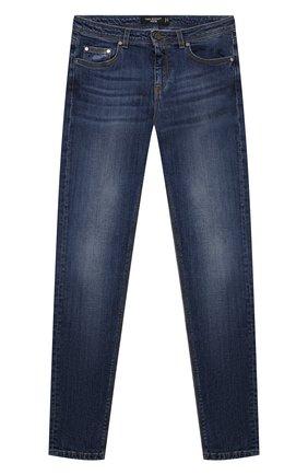 Детские джинсы NEIL BARRETT KIDS синего цвета, арт. 028984 | Фото 1