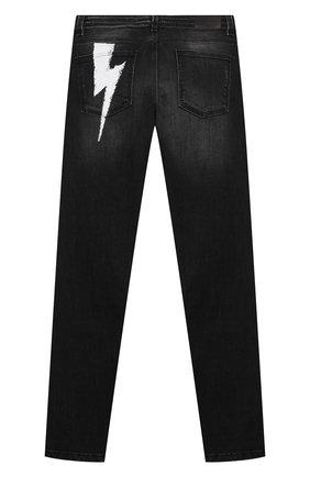 Детские джинсы NEIL BARRETT KIDS черного цвета, арт. 028983 | Фото 2