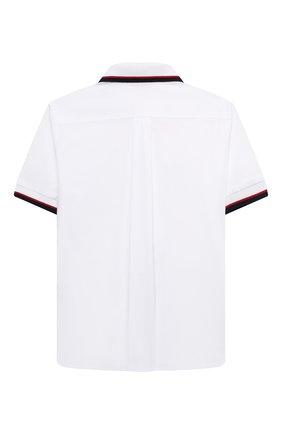 Детская хлопковая рубашка DOLCE & GABBANA белого цвета, арт. L43S43/G7BHT/2-6 | Фото 2 (Рукава: Короткие; Материал внешний: Хлопок; Стили: Классический; Ростовка одежда: 2 года | 92 см, 3 года | 98 см, 4 года | 104 см, 5 лет | 110 см, 6 лет | 116 см)