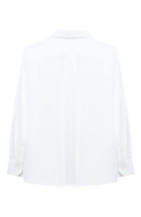 Детская хлопковая рубашка DOLCE & GABBANA белого цвета, арт. L42S70/G7A8C/8-14 | Фото 2 (Материал внешний: Хлопок; Рукава: Длинные; Стили: Классический; Ростовка одежда: 10 - 11 лет | 140 - 146см, 12 лет | 152 см, 8 лет | 128 см)