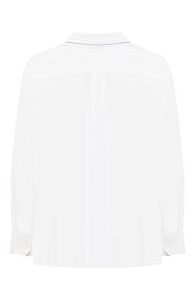 Детская хлопковая рубашка DOLCE & GABBANA белого цвета, арт. L42S70/G7A8C/2-6 | Фото 2 (Материал внешний: Хлопок; Рукава: Длинные; Стили: Классический; Ростовка одежда: 2 года | 92 см, 3 года | 98 см, 4 года | 104 см, 5 лет | 110 см, 6 лет | 116 см)