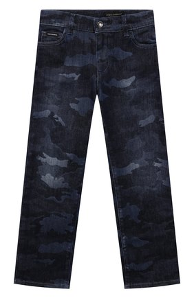 Детские джинсы DOLCE & GABBANA темно-синего цвета, арт. L42F35/LD964/8-14   Фото 1