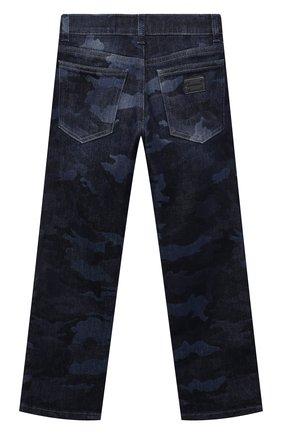 Детские джинсы DOLCE & GABBANA темно-синего цвета, арт. L42F35/LD964/8-14   Фото 2