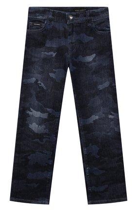 Детские джинсы DOLCE & GABBANA темно-синего цвета, арт. L42F35/LD964/2-6   Фото 1