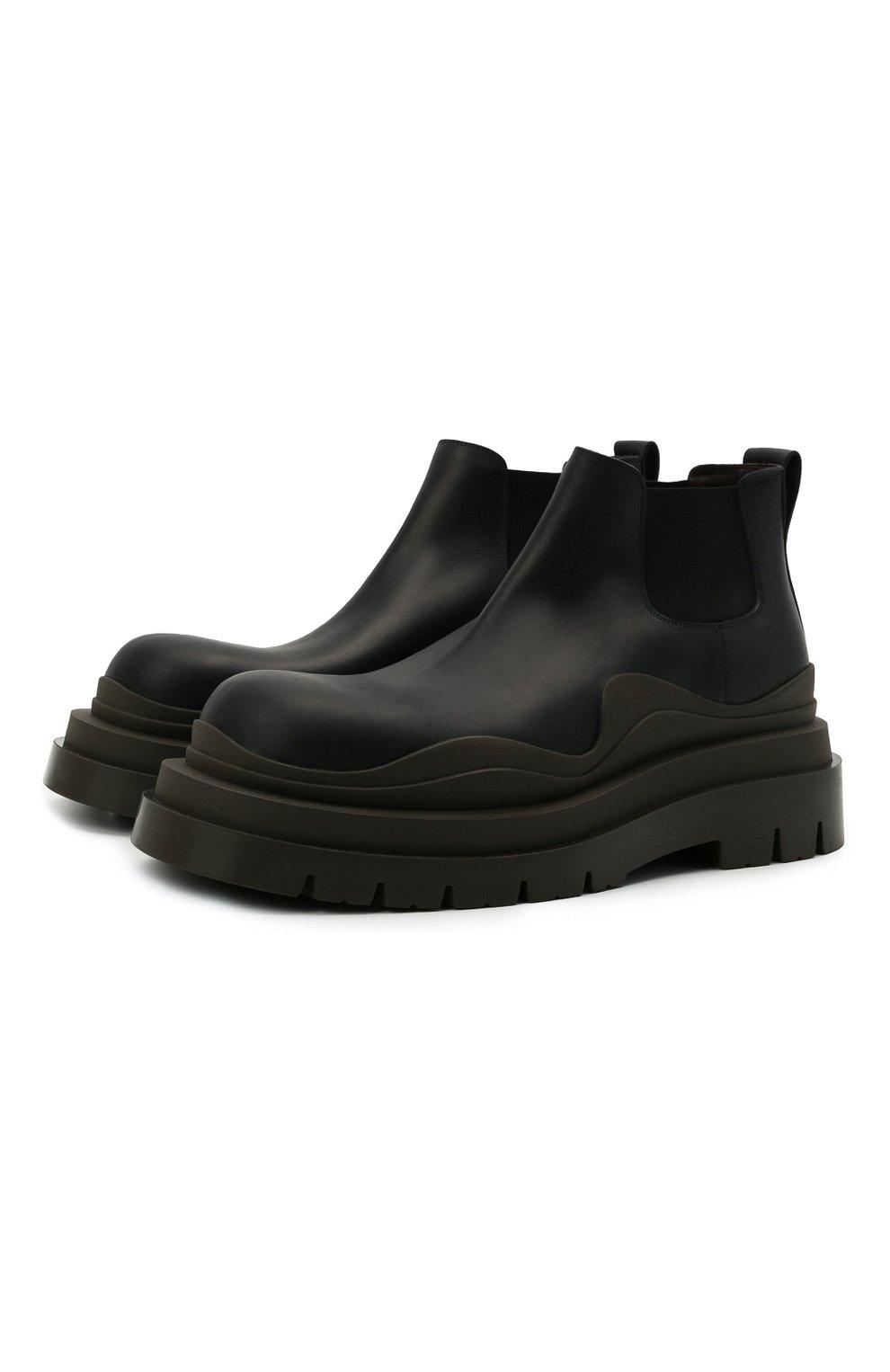 Мужские кожаные челси tire BOTTEGA VENETA черного цвета, арт. 630281/VBS50 | Фото 1 (Каблук высота: Высокий; Материал внутренний: Натуральная кожа; Подошва: Массивная; Мужское Кросс-КТ: Сапоги-обувь, Челси-обувь)