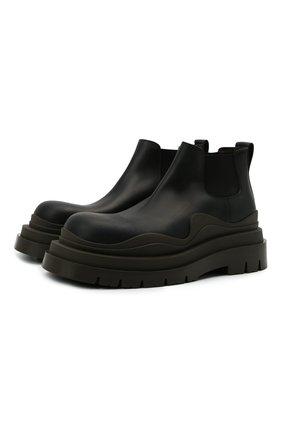 Мужские кожаные челси tire BOTTEGA VENETA черного цвета, арт. 630281/VBS50 | Фото 1 (Материал внутренний: Натуральная кожа; Мужское Кросс-КТ: Сапоги-обувь, Челси-обувь; Каблук высота: Высокий; Подошва: Массивная)