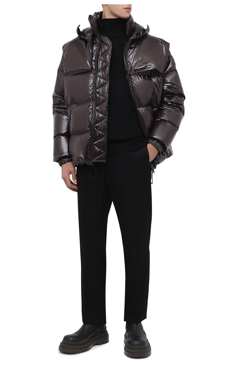 Мужские кожаные челси tire BOTTEGA VENETA черного цвета, арт. 630281/VBS50 | Фото 2 (Каблук высота: Высокий; Материал внутренний: Натуральная кожа; Подошва: Массивная; Мужское Кросс-КТ: Сапоги-обувь, Челси-обувь)