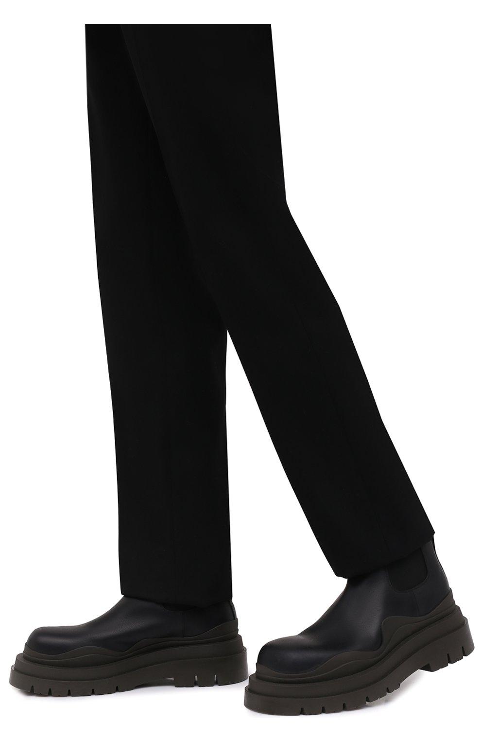 Мужские кожаные челси tire BOTTEGA VENETA черного цвета, арт. 630281/VBS50 | Фото 3 (Каблук высота: Высокий; Материал внутренний: Натуральная кожа; Подошва: Массивная; Мужское Кросс-КТ: Сапоги-обувь, Челси-обувь)