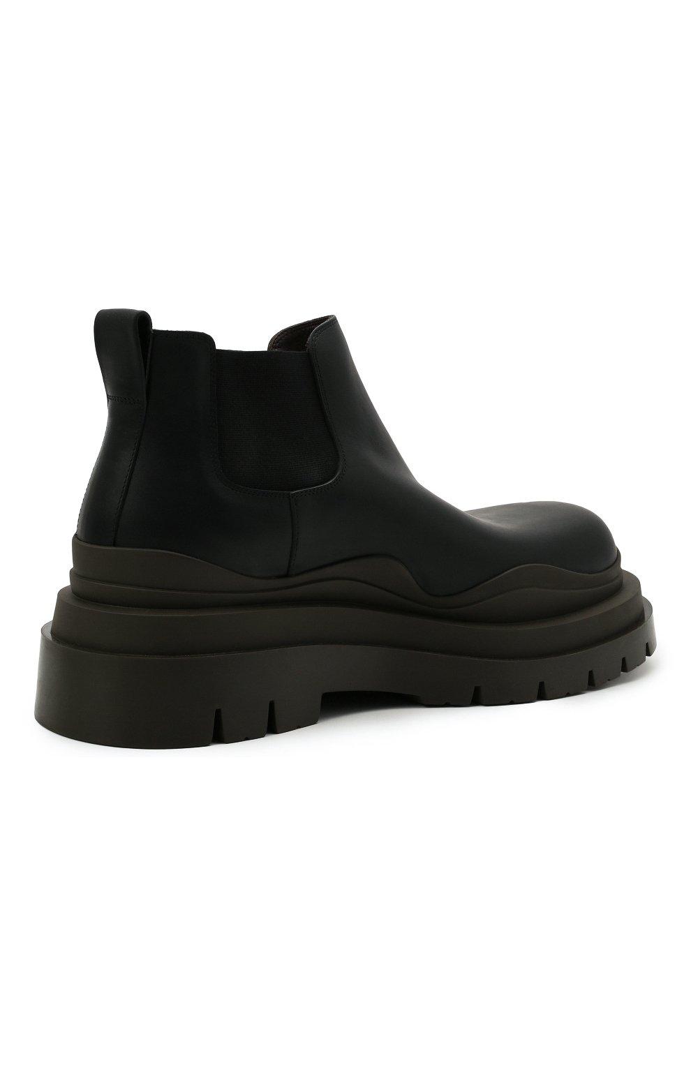 Мужские кожаные челси tire BOTTEGA VENETA черного цвета, арт. 630281/VBS50 | Фото 5 (Каблук высота: Высокий; Материал внутренний: Натуральная кожа; Подошва: Массивная; Мужское Кросс-КТ: Сапоги-обувь, Челси-обувь)