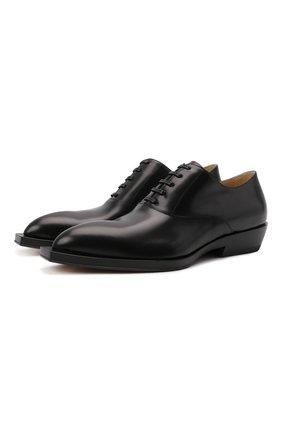 Мужские кожаные оксфорды chisel BOTTEGA VENETA черного цвета, арт. 667082/V10T0 | Фото 1 (Материал внутренний: Натуральная кожа; Стили: Классический)