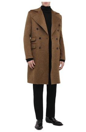 Мужские кожаные оксфорды chisel BOTTEGA VENETA черного цвета, арт. 667082/V10T0 | Фото 2 (Материал внутренний: Натуральная кожа; Стили: Классический)