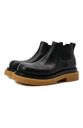 Мужские кожаные челси lug BOTTEGA VENETA черного цвета, арт. 668369/VBS50 | Фото 1 (Мужское Кросс-КТ: Сапоги-обувь, Челси-обувь; Материал внутренний: Натуральная кожа; Подошва: Массивная; Каблук высота: Высокий)