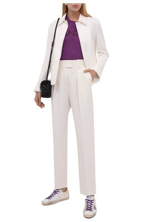 Женские кожаные кеды superstar GOLDEN GOOSE DELUXE BRAND белого цвета, арт. GWF00101.F001554 | Фото 2