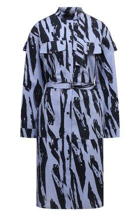Женское хлопковое платье KENZO синего цвета, арт. FB62R00489R2 | Фото 1