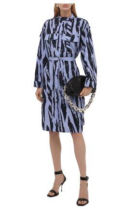 Женское хлопковое платье KENZO синего цвета, арт. FB62R00489R2 | Фото 2