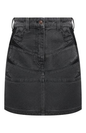 Женская джинсовая юбка KENZO серого цвета, арт. FB62DJ2619FD | Фото 1