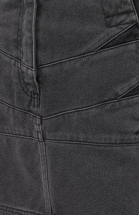 Женская джинсовая юбка KENZO серого цвета, арт. FB62DJ2619FD | Фото 5 (Кросс-КТ: Деним; Длина Ж (юбки, платья, шорты): Мини; Стили: Гранж; Женское Кросс-КТ: Юбка-одежда; Материал внешний: Хлопок)
