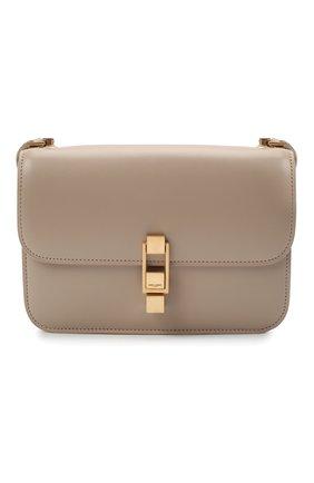 Женская сумка carre SAINT LAURENT бежевого цвета, арт. 633214/1YF0W | Фото 1 (Материал: Натуральная кожа; Сумки-технические: Сумки через плечо; Размер: small)