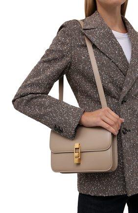 Женская сумка carre SAINT LAURENT бежевого цвета, арт. 633214/1YF0W | Фото 2 (Материал: Натуральная кожа; Сумки-технические: Сумки через плечо; Размер: small)