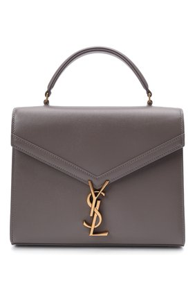 Женская сумка cassandra SAINT LAURENT серого цвета, арт. 623931/B0W0W | Фото 1 (Материал: Натуральная кожа; Сумки-технические: Сумки top-handle, Сумки через плечо; Ремень/цепочка: На ремешке; Размер: small)