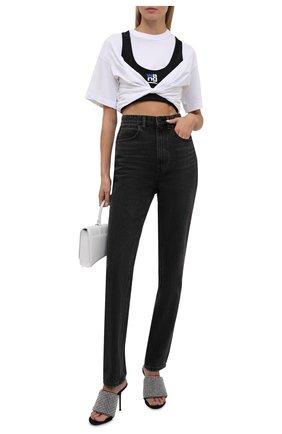 Женская хлопковая футболка ALEXANDERWANG.T черно-белого цвета, арт. 4CC3211208 | Фото 2