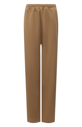 Женские хлопковые брюки BALENCIAGA бежевого цвета, арт. 674594/TKVB5 | Фото 1