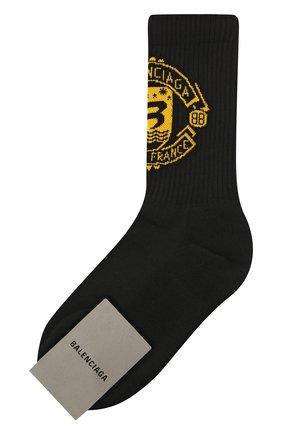 Женские хлопковые носки BALENCIAGA черного цвета, арт. 670771/372B4 | Фото 1
