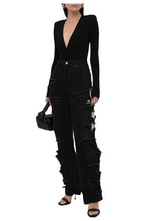 Женские джинсы BALENCIAGA черного цвета, арт. 662764/TBP47 | Фото 2