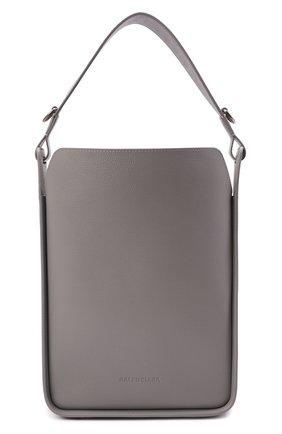 Женская сумка tool BALENCIAGA серого цвета, арт. 659920/15YGY | Фото 1 (Материал: Натуральная кожа; Ошибки технического описания: Нет ширины; Ремень/цепочка: На ремешке; Размер: medium; Сумки-технические: Сумки через плечо)