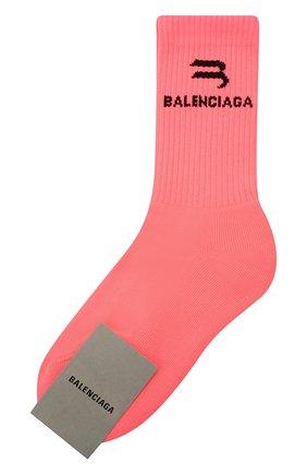 Женские носки BALENCIAGA розового цвета, арт. 659278/3A8B4 | Фото 1
