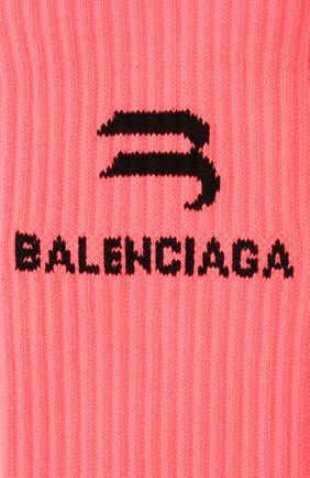 Женские носки BALENCIAGA розового цвета, арт. 659278/3A8B4 | Фото 2