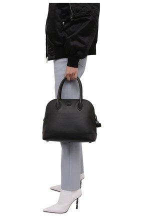 Женская сумка ville BALENCIAGA черного цвета, арт. 645011/1Y517 | Фото 2 (Материал: Натуральная кожа; Ремень/цепочка: На ремешке; Размер: medium; Сумки-технические: Сумки top-handle, Сумки через плечо)