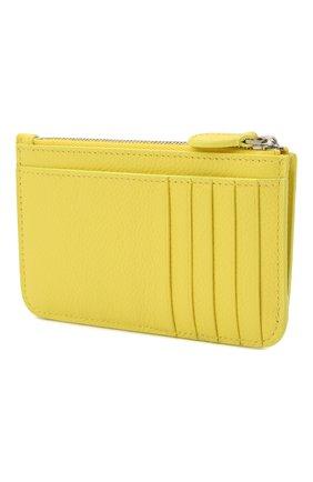 Женский кожаный футляр для кредитных карт BALENCIAGA желтого цвета, арт. 637130/1IZI3 | Фото 2