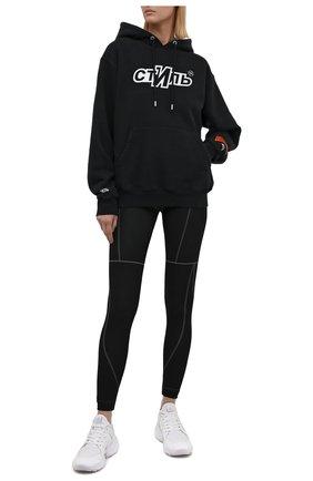 Женские леггинсы HERON PRESTON черного цвета, арт. HWVG002F21KNI0011001   Фото 2