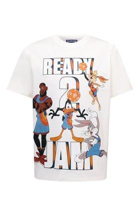 Мужская хлопковая футболка vilebrequin x space jam VILEBREQUIN белого цвета, арт. EDTZ1P67/052 | Фото 1
