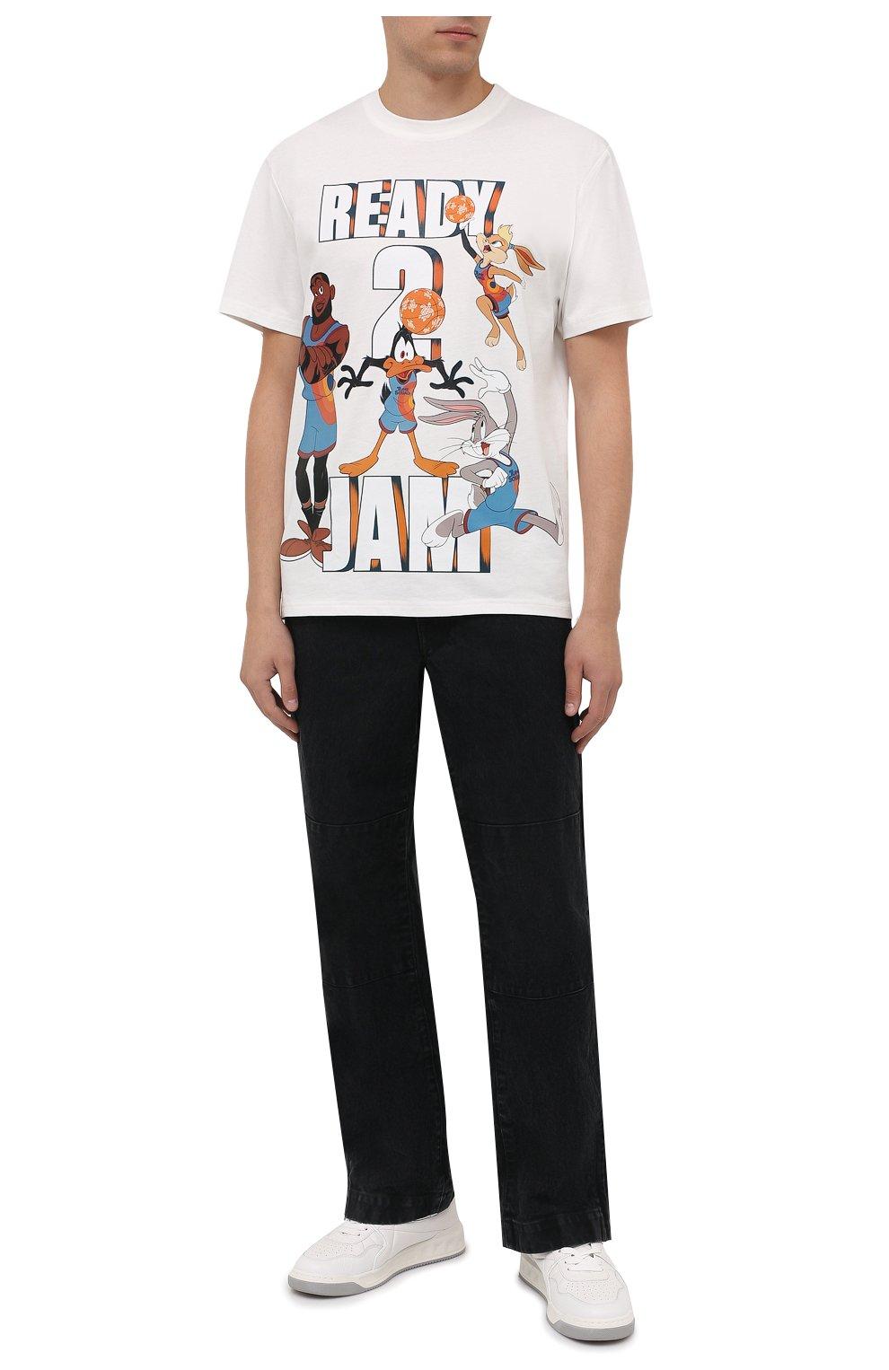 Мужская хлопковая футболка vilebrequin x space jam VILEBREQUIN белого цвета, арт. EDTZ1P67/052 | Фото 2 (Мужское Кросс-КТ: Футболка-пляж; Рукава: Короткие; Длина (для топов): Стандартные; Принт: С принтом; Материал внешний: Хлопок; Стили: Спорт-шик)
