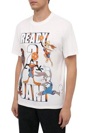 Мужская хлопковая футболка vilebrequin x space jam VILEBREQUIN белого цвета, арт. EDTZ1P67/052 | Фото 3 (Мужское Кросс-КТ: Футболка-пляж; Рукава: Короткие; Длина (для топов): Стандартные; Принт: С принтом; Материал внешний: Хлопок; Стили: Спорт-шик)