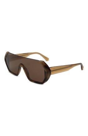 Мужские солнцезащитные очки GIORGIO ARMANI коричневого цвета, арт. AR8148   Фото 1 (Тип очков: С/з; Оптика Гендер: оптика-мужское; Очки форма: Маска)