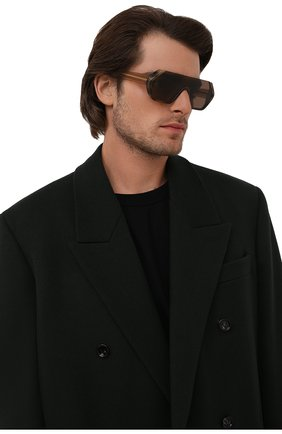 Мужские солнцезащитные очки GIORGIO ARMANI коричневого цвета, арт. AR8148   Фото 2 (Тип очков: С/з; Оптика Гендер: оптика-мужское; Очки форма: Маска)