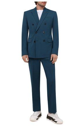 Мужские кожаные кроссовки gumboy VALENTINO хаки цвета, арт. WY2S0B17/MQB | Фото 2